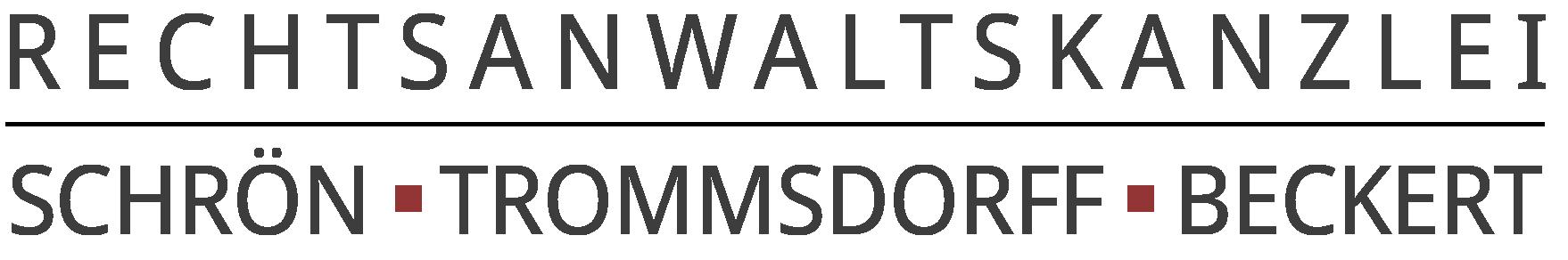 Rechtsanwaltskanzlei Schrön | Trommsdorff | Beckert Logo