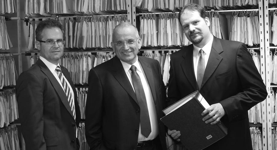 Rechtsanwälte Michael Trommsdorff , Hans-Bernd Beckert und Michael Doll